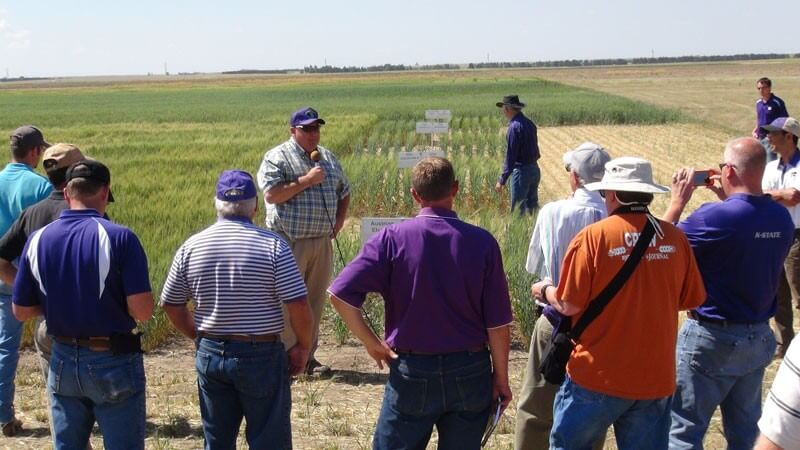 Allan Fritz at plot tour